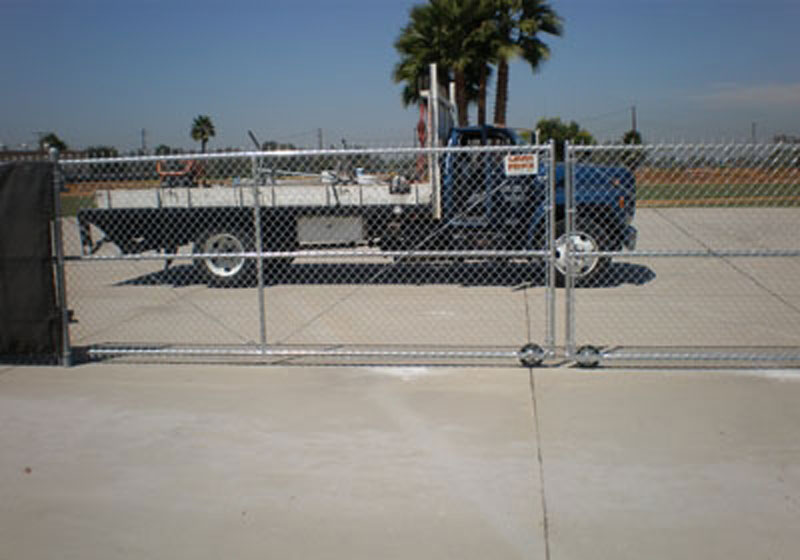 Industrial Chain link Double Roll Gate