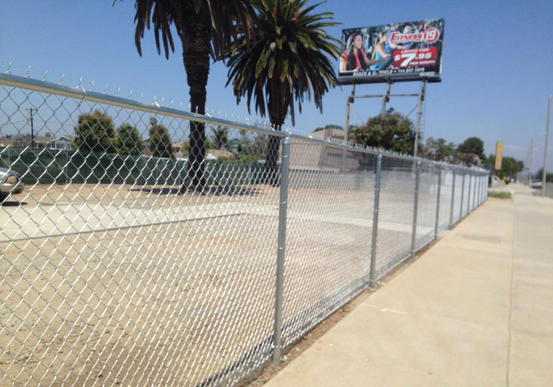 6 ft. Tall Chain Link Perimeter Fence