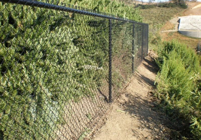 Black Poly-Coated Fence - San Juan Capistrano