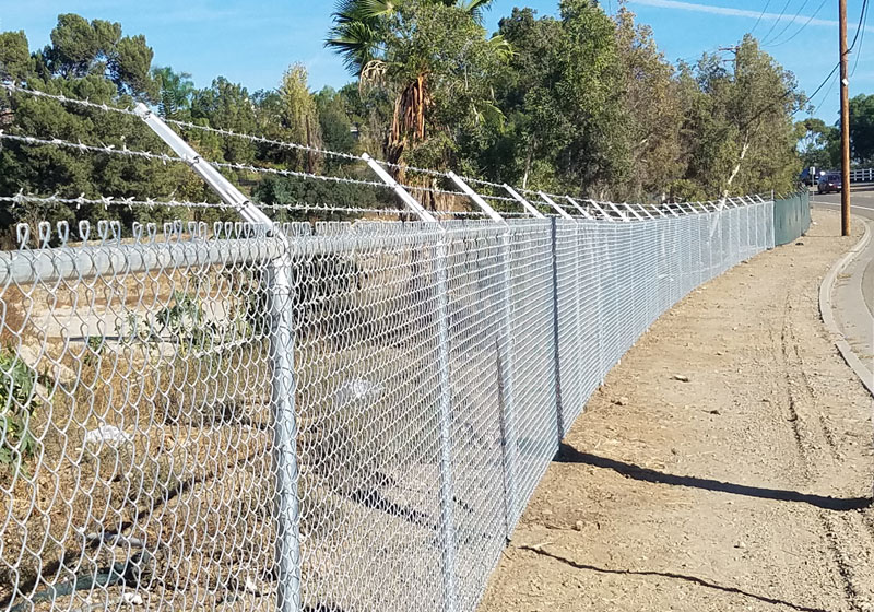 Chain-Link Security Fence, Rancho Mission Viejo