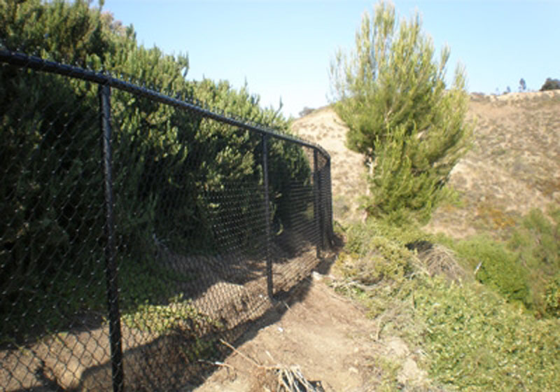 Black Poly-Coated Chain Link Fence - San Juan Capistrano
