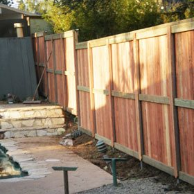 Residential Wood Fence Installation
